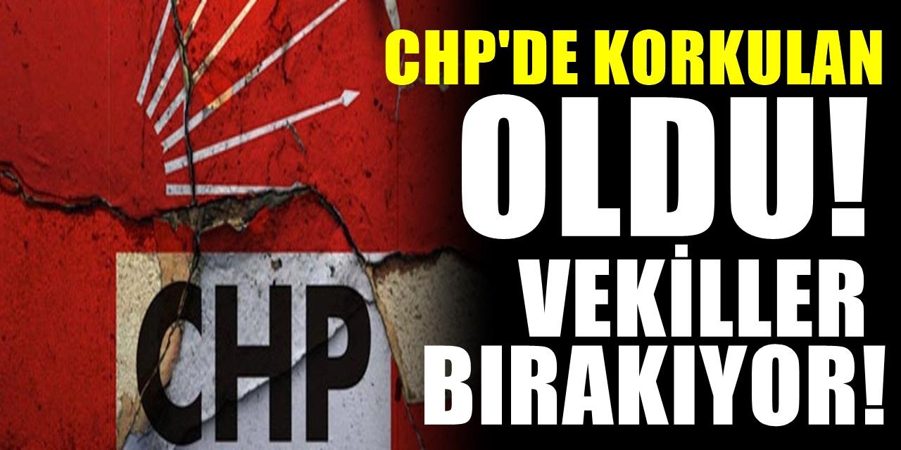 CHP'de büyük kriz! Çok sayıda vekil istifa ediyor geçecekleri parti belli oldu!