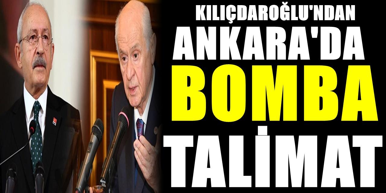 CHP lideri Kılıçdaroğlu'nun Devlet Bahçeli talimatı Ankara'yı sarstı! Resmen duyurdu
