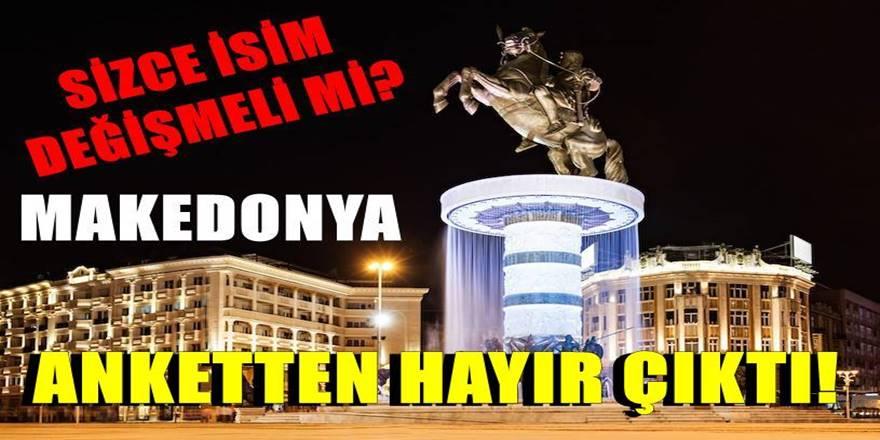 Makedonya İsmi değişmeli mi anketinde Hayır çıktı!