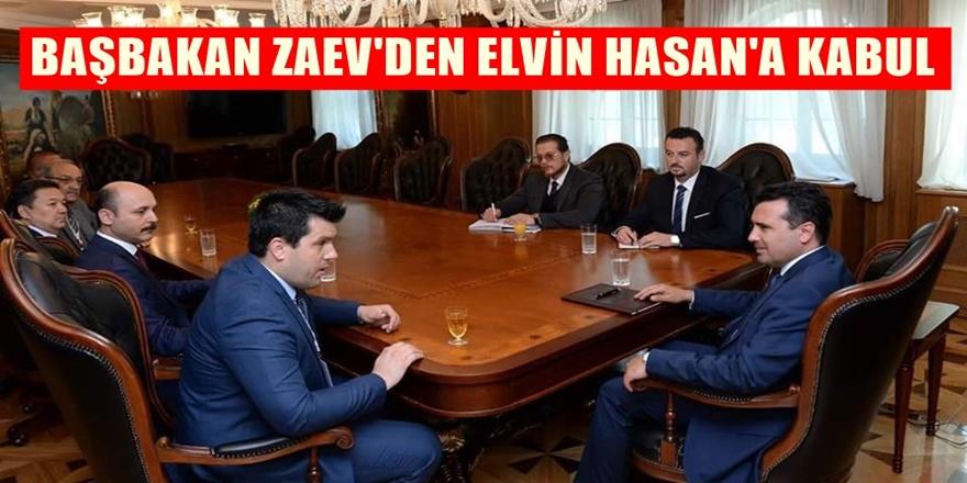 Başbakan Zoran Zaev ve Elvin Hasan'dan flaş görüşme