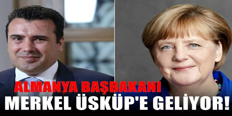 Almanya Başbakanı Merkel'den Üsküp Ziyareti