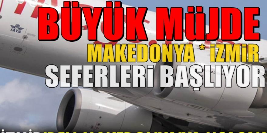 Pegasus İzmir'den Makedonya'ya Uçacak