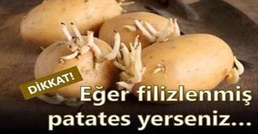 Eğer filizlenmiş patates yerseniz.Bakınız ne oluyor ; Hanımlar mutlaka bilgilenin