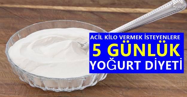 Acil Kilo Vermek İsteyenlere özel en etkili 5 günlük yoğurt diyeti!