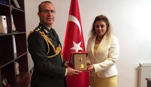 Yeni Askeri Ateşe'den Büyükelçi Kara'ya ziyaret
