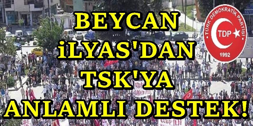 TDP Genel Başkanı Beycan İlyas'dan Türkiye'ye çok anlamlı destek
