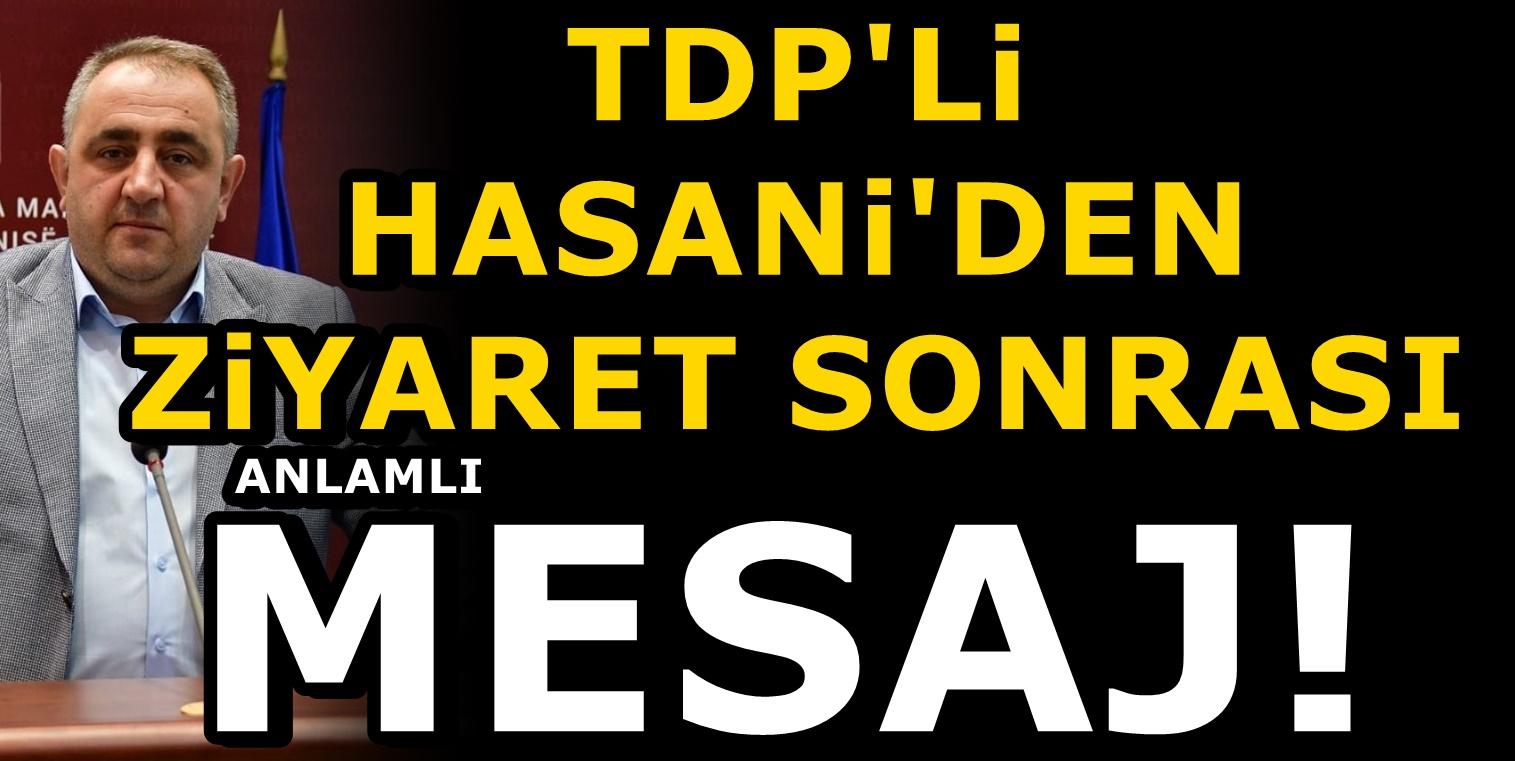 TDP'li Yusuf Hasani'den çok anlamlı bayrak desteği