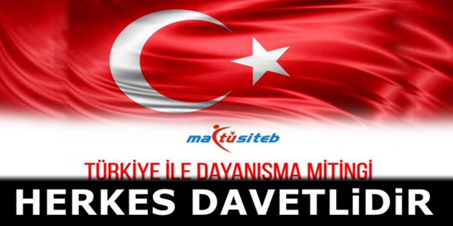 Üsküp'te MATÜSİTEB öncülüğünde Türkiye'ye destek mitingi düzenlenecek