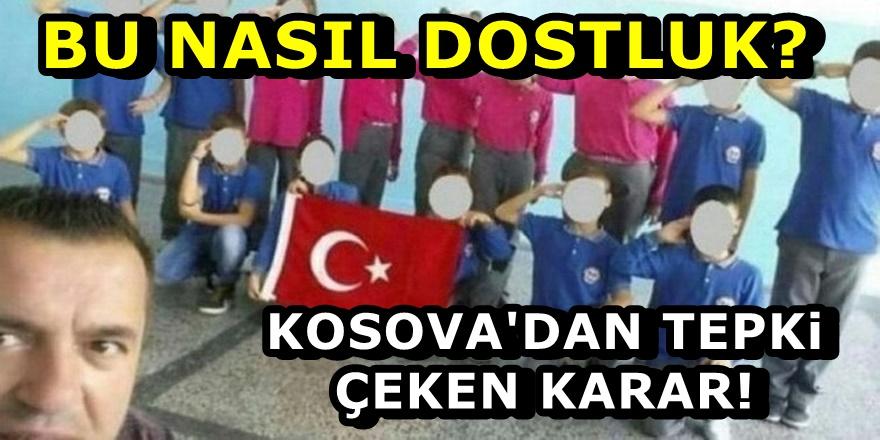 Kosova'da Asker selamı veren öğretmene ceza