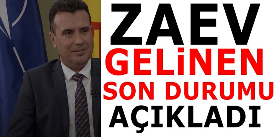 AB süreci ve Erken Seçimle ilgili Başbakan Zaev'den özel açıklamalar