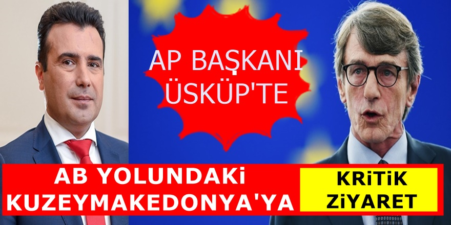 Avrupa Parlamentosu Başkanı Üsküp'e geldi! Kritik Mesajlar verdi