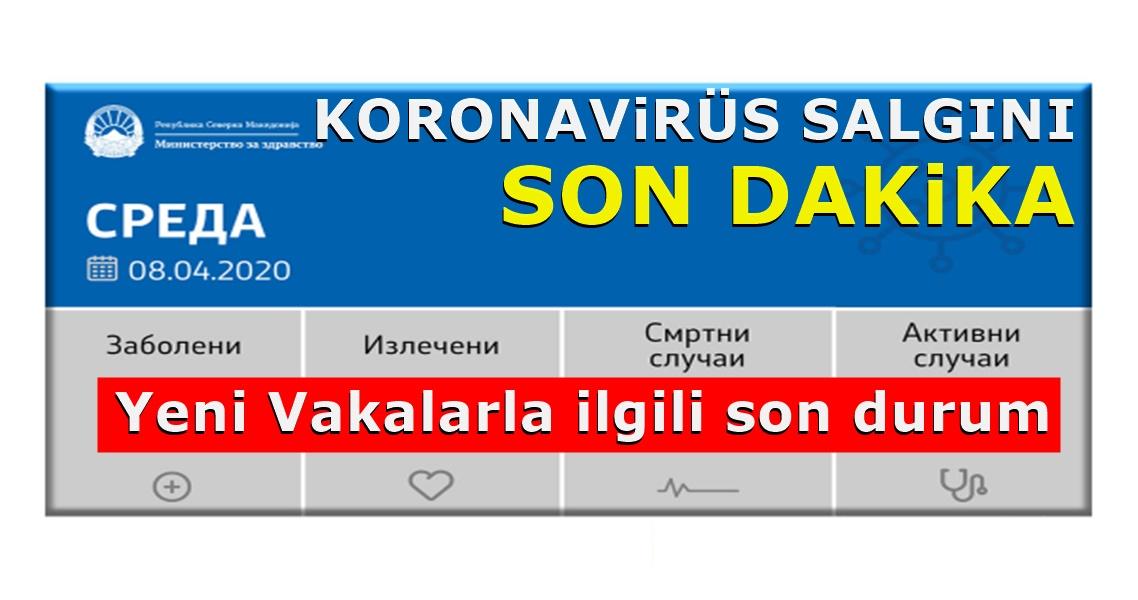 Kuzey Makedonya Sağlık Bakanlığından Son durumla ilgili bilgiler