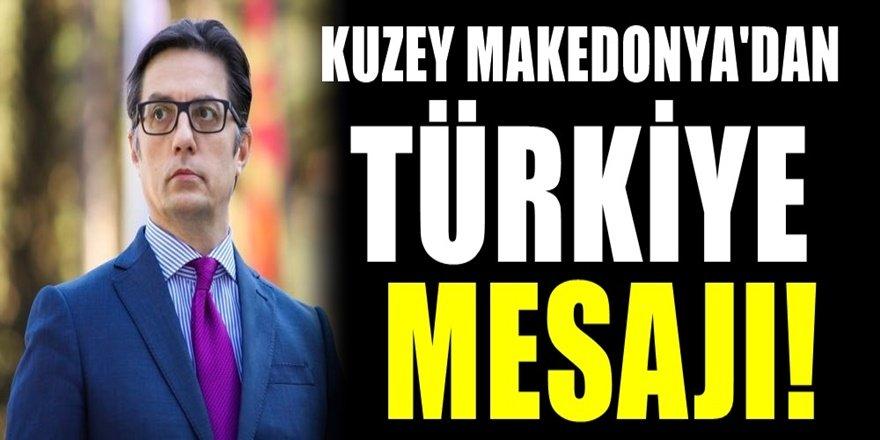 Kuzey Makedonya Cumhurbaşkanı Pendarovski'den İzmir'e geçmiş olsun mesajı.