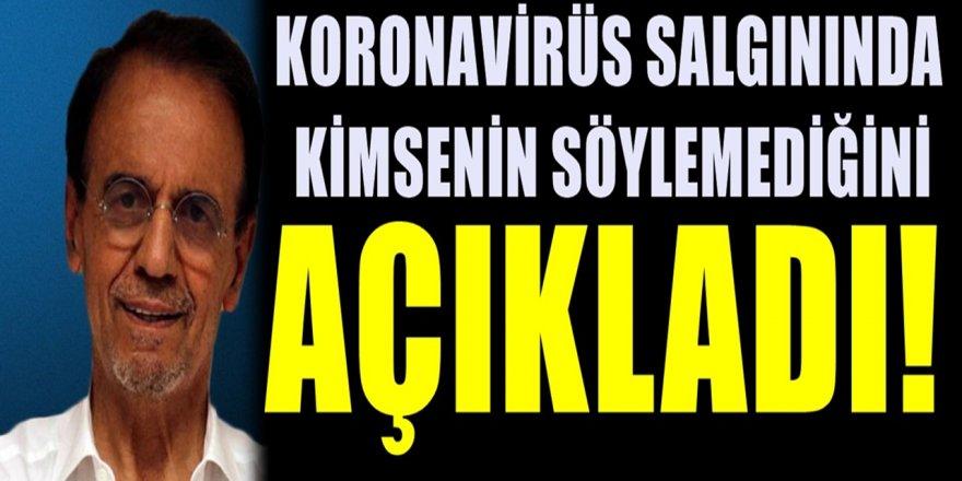 Koronavirüs salgınında Prof. Dr. Mehmet Ceyhan bilinmeyen bir gerçeği açıkladı...