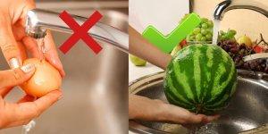 Yemeden önce kesinlikle yıkamanız gereken 5 ve asla yıkamamanız gereken 5 yiyecek.